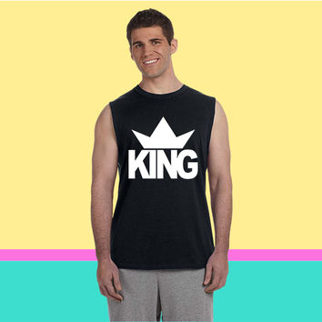 KING CROWN 1 Sleeveless T-shirt