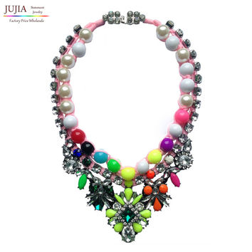 New shourouk design rainbow necklace Choker necklaces & pendants fashion Necklace for women shourouk style necklace