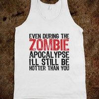 Hot Zombie - Text Tees