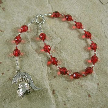 Mars Pocket Prayer Beads: Roman God of War, Fertility, Agriculture