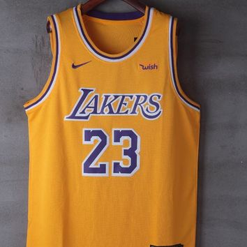 2018-2019 LeBron James Los Angeles Lakers #23 Nike Fanatics Branded Icon Edition jerseys - Best Deal Online