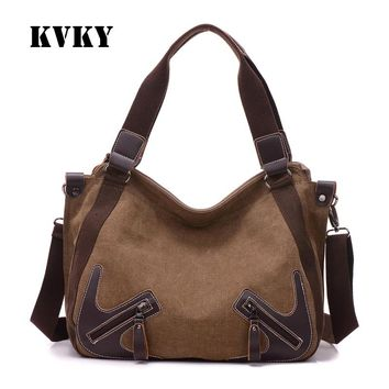 Sky fantasy fashion canvas vintage zipper youth women shoulder bag vogue European style cross body girl Commuter casual tote