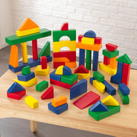 KidKraft 60 pc Wooden Block Set - Primary Colors - 63339
