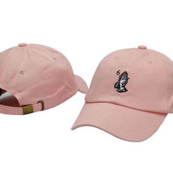 DCCKL72 Drake OVO CLASSIC 6 God Praying Hands Pink SNAPBACK Caps Casquette OVO CORE COLLECTION HATS STRAPBACK SPORT CAPS Baseball Cap PP