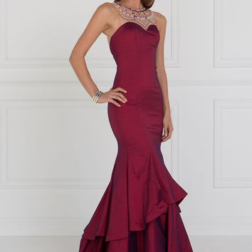 mermaid Satin prom dress #gl2290