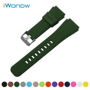 Silicone Rubber Watch Band 21mm 22mm for Orient Quick Release Strap Stainless Steel Buckle Wrist Belt Bracelet + Spring Bar