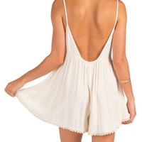 Solid Low Back Romper