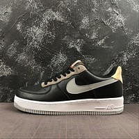 Nike Air Force 1 '07 AF1 Low Black Brown Fashion Shoes