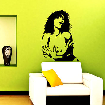 Wall Vinyl Decal Sticker Beautiful Woman Beauty Salon  Art Design Room Nice Picture Decor Hall Wall Chu1183