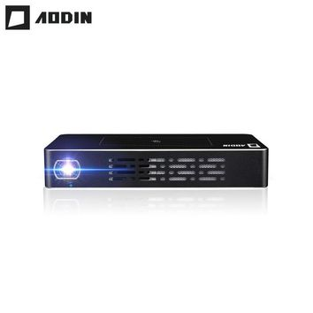 AODIN T68 DLP Android Smart Mini Projector LED Smart Multi-touch 1+32G HD 1080P