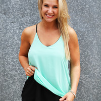 Flip It & Reverse It Tank {Mint/Black}