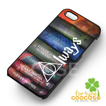 Harry Potter Books Deathly Hallows - z3z for  iPhone 4/4S/5/5S/5C/6/6+,Samsung S3/S4/S5/S6 Regular/S6 Edge,Samsung Note 3/4
