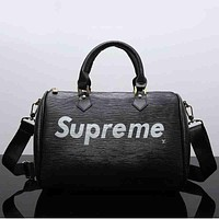 LV X Supreme Women Leather Luggage Travel Bags Tote Handbag