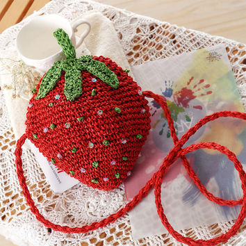 Strawberry Lovely Beach Bags [6580706247]