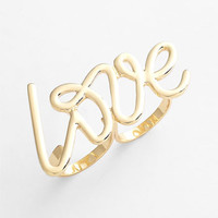 Spring Street 'Love' Double Ring