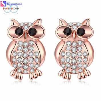 Owl Bird Stud Earrings
