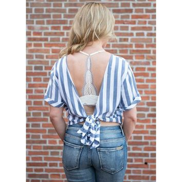 La Jolla Cropped Top With Back Tie