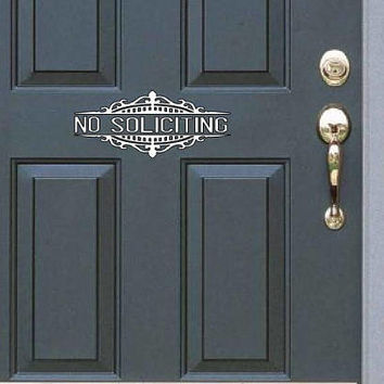 No Soliciting Decal - Vinyl Decal/Door Decal