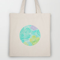 Happy flower Tote Bag by Claudia Owen