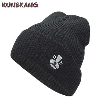 Women Cute Winter Knitted Hat Dog Warm Casual Beanies Cap Girls Female Animal Cartoon Wool Knit Beanie Hat Skullies Cap Bonnet