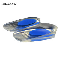New Support Insoles Fashion Women Liners Soft Rubber ShoePad Gel Pain Heel Peds Cup Unisex Cushion Super Quality Increased Q047