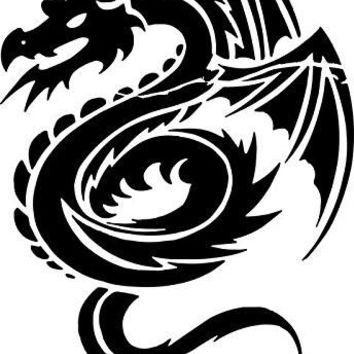 Tribal Dragon 2 Car Window Ipad Tableet PC Notebook Cumputer Decal Sticker