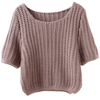 Mauve Knitted Sweater