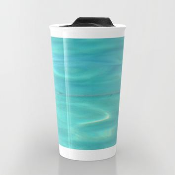 Fish Swimming in the Ocean Travel Mug by Lena Photo Art