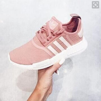 """Women """"Adidas"""" Fashion Trending Beige And Gray Leisure Running Sports Shoes Pink"""