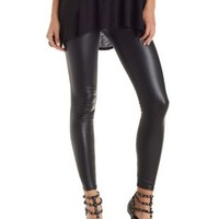 Black High Rise Liquid Leggings by Charlotte Russe