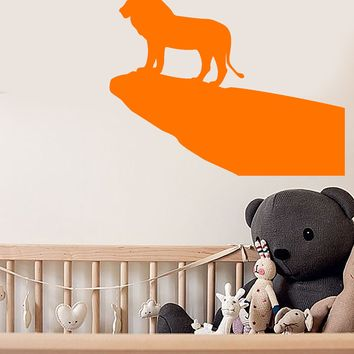 Vinyl Wall Decal Lion King African Animal Silhouette Cartoon Stickers Unique Gift (1936ig)