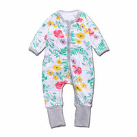 Baby Girls Clothes Floral Print Rompers For Gilrs Long Sleeve Baby Jumpsuit  Newborn Clothing Winter NB Girls
