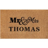 Mr and Mrs Door Mat