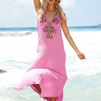 Sparkle Maxi Dress in Pink