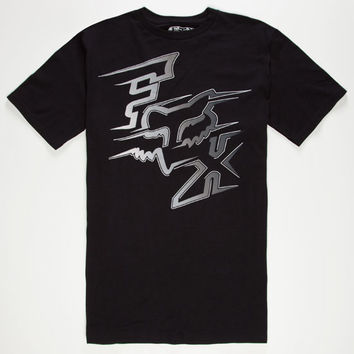 Fox Voltcano Mens T-Shirt Black  In Sizes
