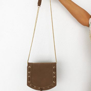 Be Yourself Purse: Taupe