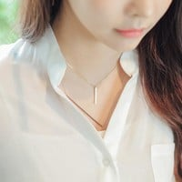 Gift Shiny Jewelry New Arrival Korean Stylish Simple Design Pendant 925 Silver Necklace [7587130759]
