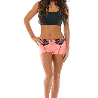 Bombshell Sportswear - Fit Centerfold Shorts | High End Activewear - Peach Glam