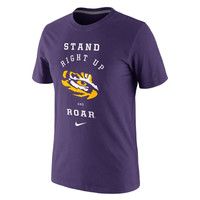 Nike LSU Tigers Fight Song T-Shirt - Purple