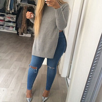 FASHION ROUND NECK LONG-SLEEVED JACKET