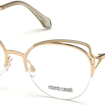 Roberto Cavalli - RC5076 Mugello Gold Eyeglasses / Demo Lenses