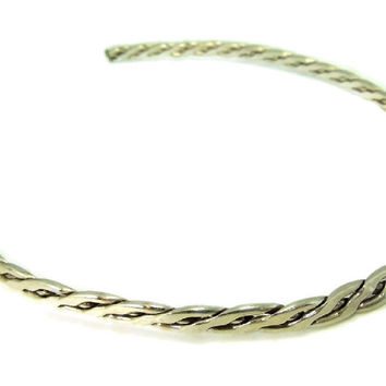 Taxco Silver Collar Necklace Braided Heavy Vintage Sterling