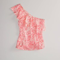 AE One-Shoulder Ruffle Top | American Eagle Outfitters