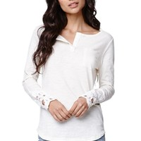 Nollie Crochet Long Sleeve T-Shirt - Womens Tees