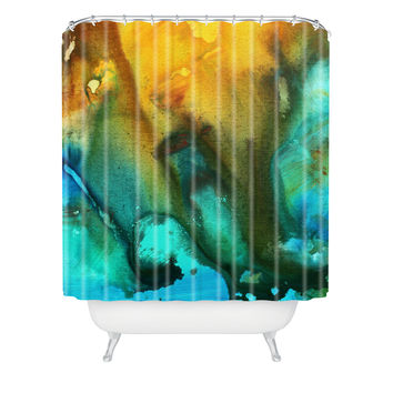 Madart Inc. River Of Rust 3 Shower Curtain