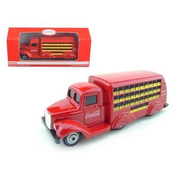 1937 Coca Cola Delivery Bottle Truck 1:87 HO Scale Diecast Model by Motorcity Classics