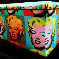 Marilyn Ottoman storage blanket box deep buttoned by katepritchard