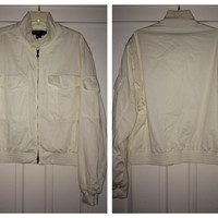 Sale!! Vintage Polo RALPH LAUREN white jacket