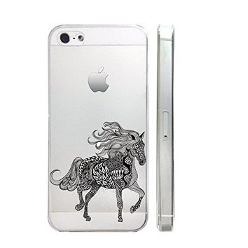 Unicorn Slim Iphone 5 5S Case, Clear Transparent Iphone 5 5S Hard Cover Case For Apple Iphone 5/5S -Emerishop