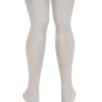 Silver Linings Glittery Thigh High Socks